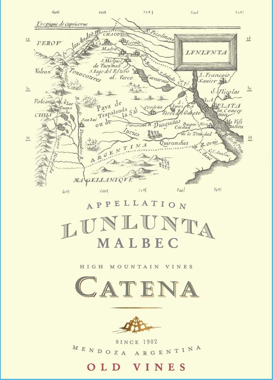 Catena Appellation Lunlunta Malbec 2018  Front Label
