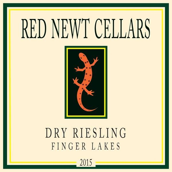 Red Newt Cellars Dry Riesling 2015  Front Label