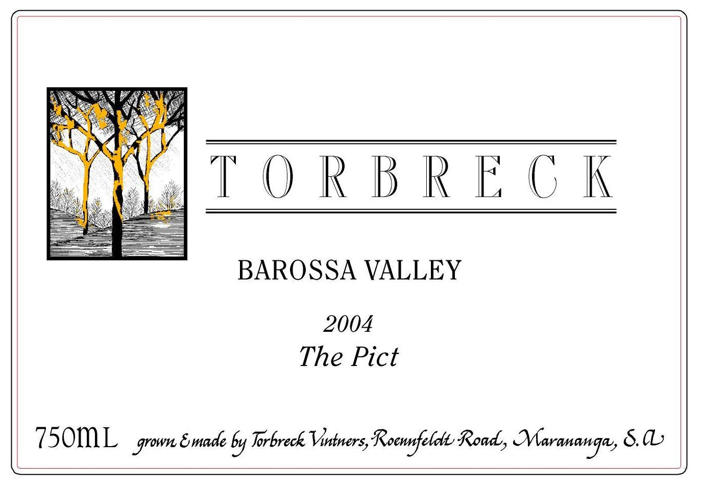 Torbreck The Pict 2004  Front Label