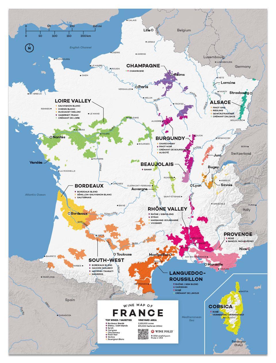 Wine Folly France Wine Map  Gift Product Image