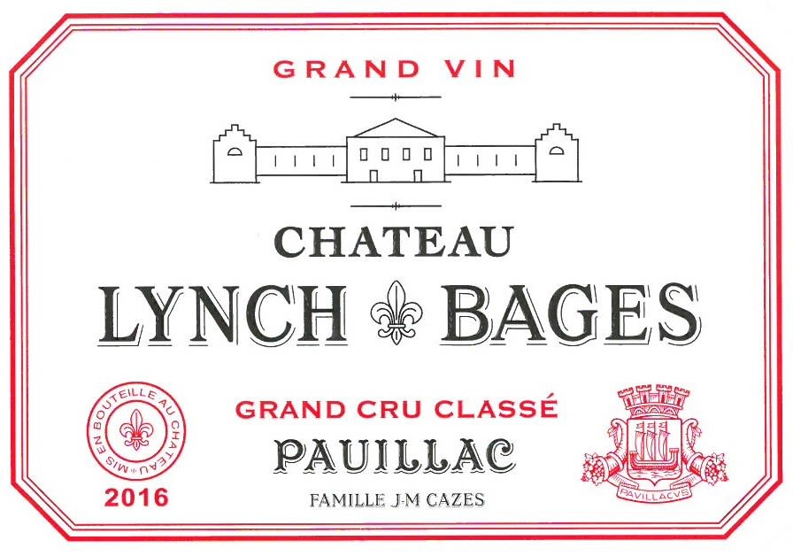 Chateau Lynch-Bages  2016 Front Label
