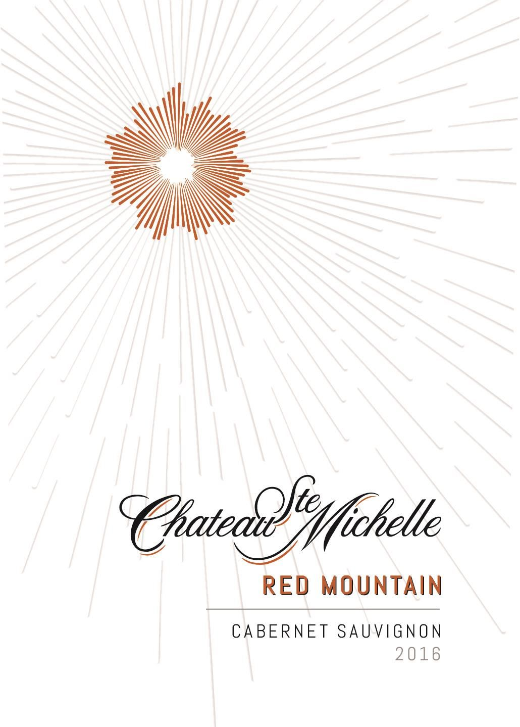 Chateau Ste. Michelle Red Mountain Cabernet Sauvignon 2016 Front Label