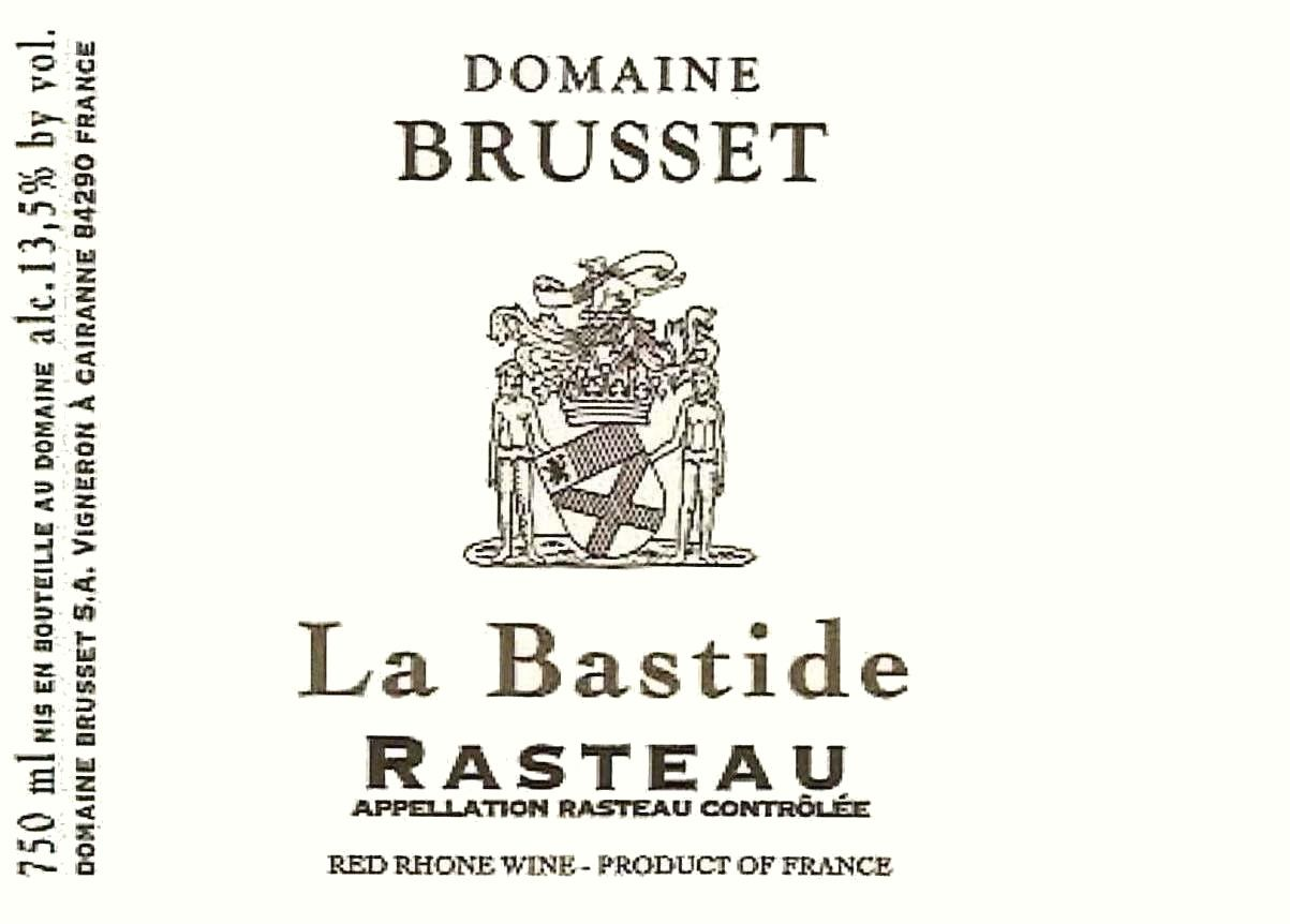 Domaine Brusset Rasteau La Bastide 2018  Front Label