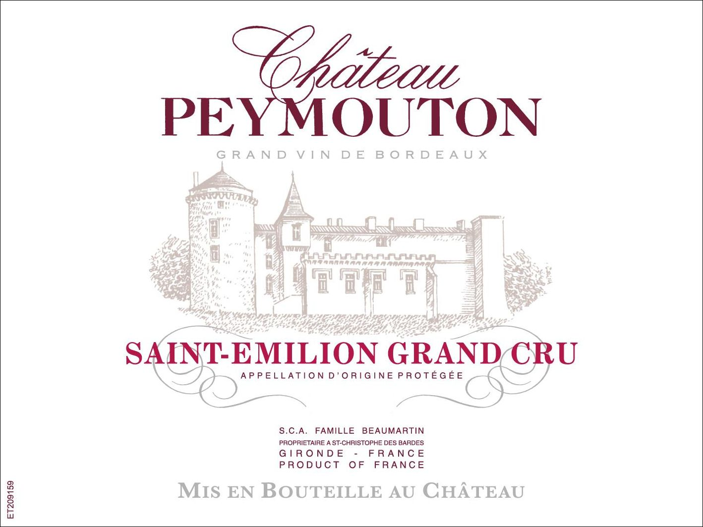 Chateau Peymouton  2016  Front Label