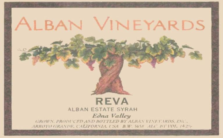 Alban Reva Estate Syrah 2007  Front Label