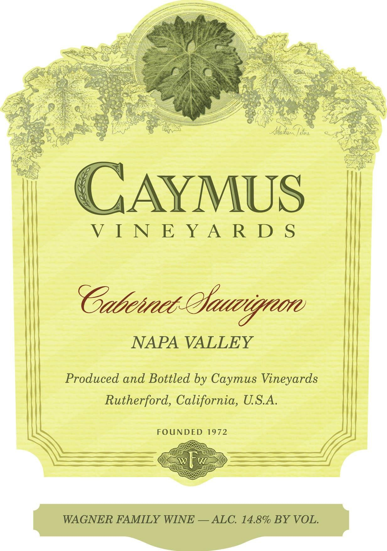 Caymus Napa Valley Cabernet Sauvignon (1 Liter Bottle) 2017  Front Label