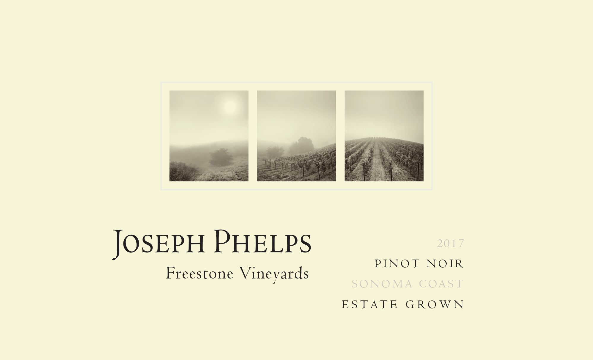 Joseph Phelps Freestone Vineyards Sonoma Coast Pinot Noir 2017  Front Label