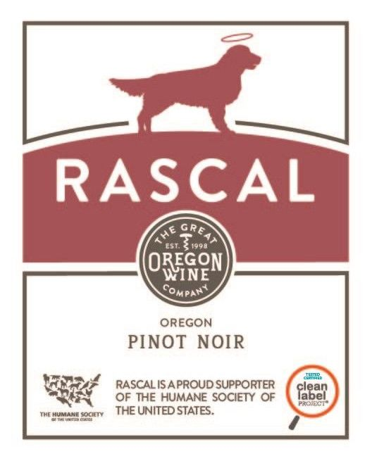 Great Oregon Wine Co. Rascal Pinot Noir 2018  Front Label