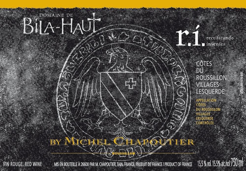 Bila-Haut by Michel Chapoutier r.i. Cotes du Roussillon Villages 2015  Front Label