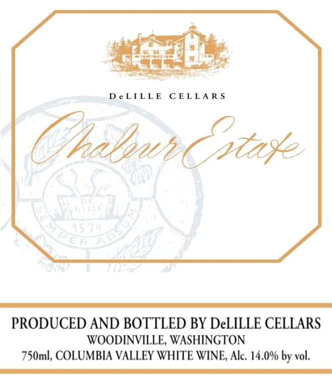 DeLille Chaleur Estate Blanc 2018 Front Label