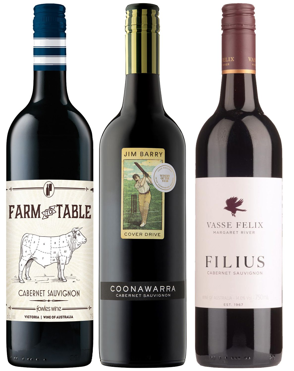 wine.com Cabernet from Down Under Tasting Trio  Gift Product Image