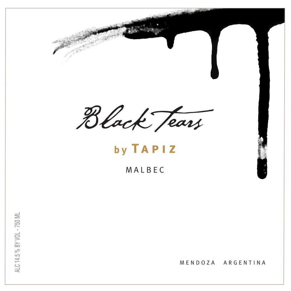 Tapiz Black Tears Malbec 2014  Front Label