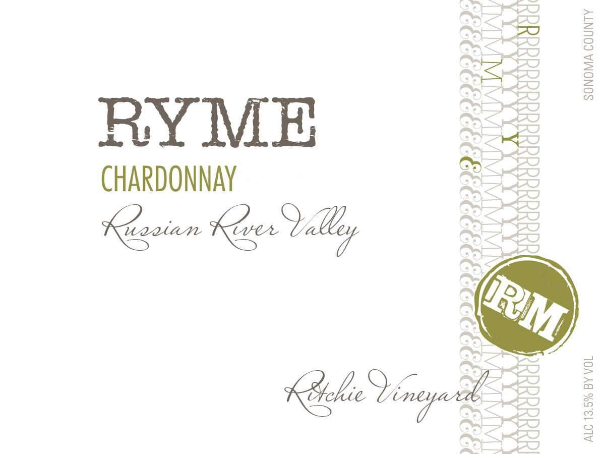 Ryme Ritchie Vineyard Chardonnay 2015  Front Label