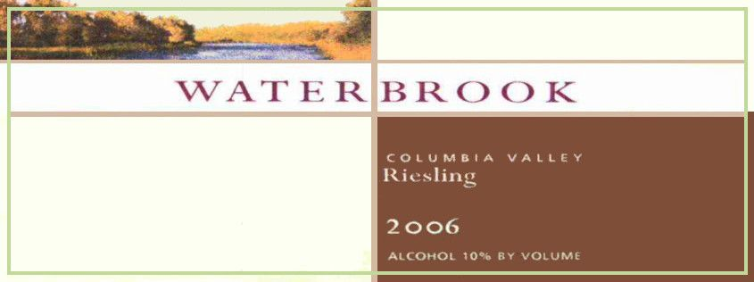 Waterbrook Riesling 2006  Front Label