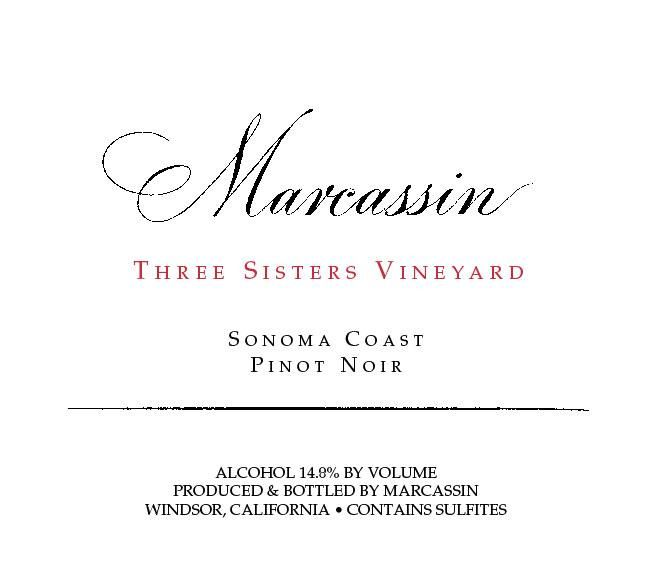 Marcassin Three Sisters Vineyard Pinot Noir 2004  Front Label