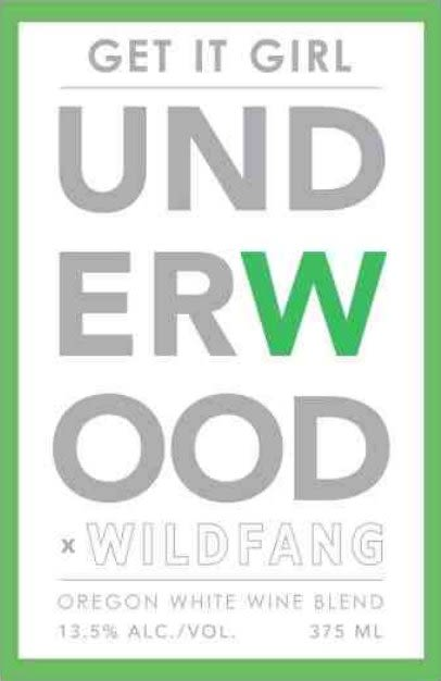Underwood Cellars Get it Girl Wildfang White (375ML Wine in a Can) Front Label