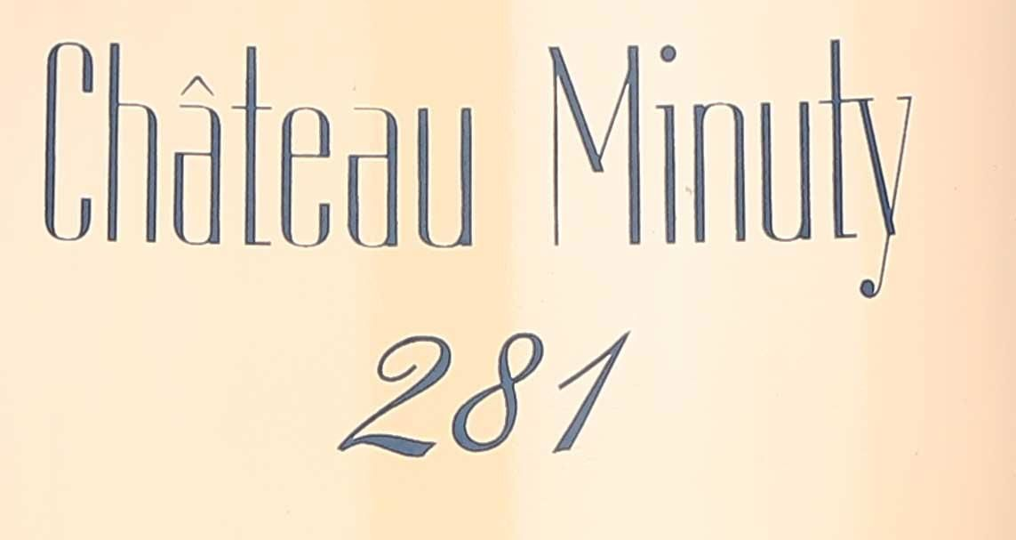 Chateau Minuty 281 Rose 2019  Front Label