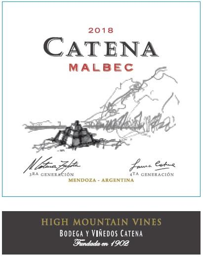 Catena Malbec (375ML half-bottle) 2018  Front Label