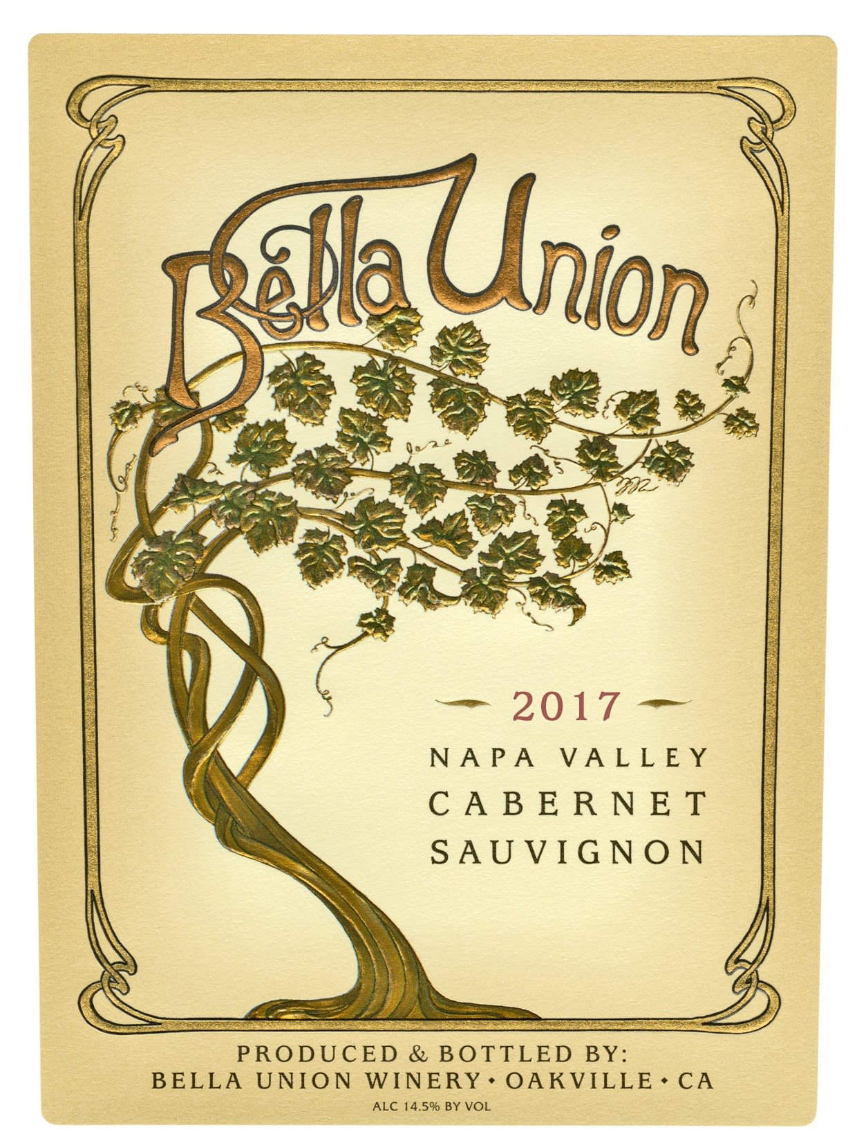 Bella Union by Far Niente Cabernet Sauvignon 2017  Front Label
