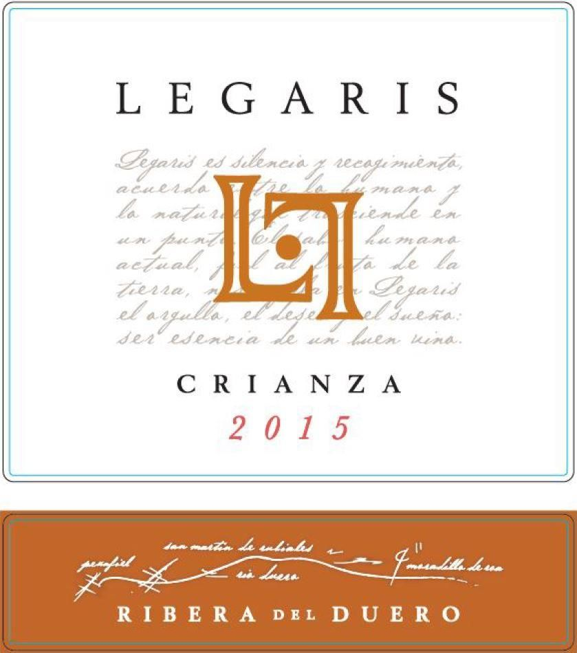 Legaris Crianza 2015 Front Label