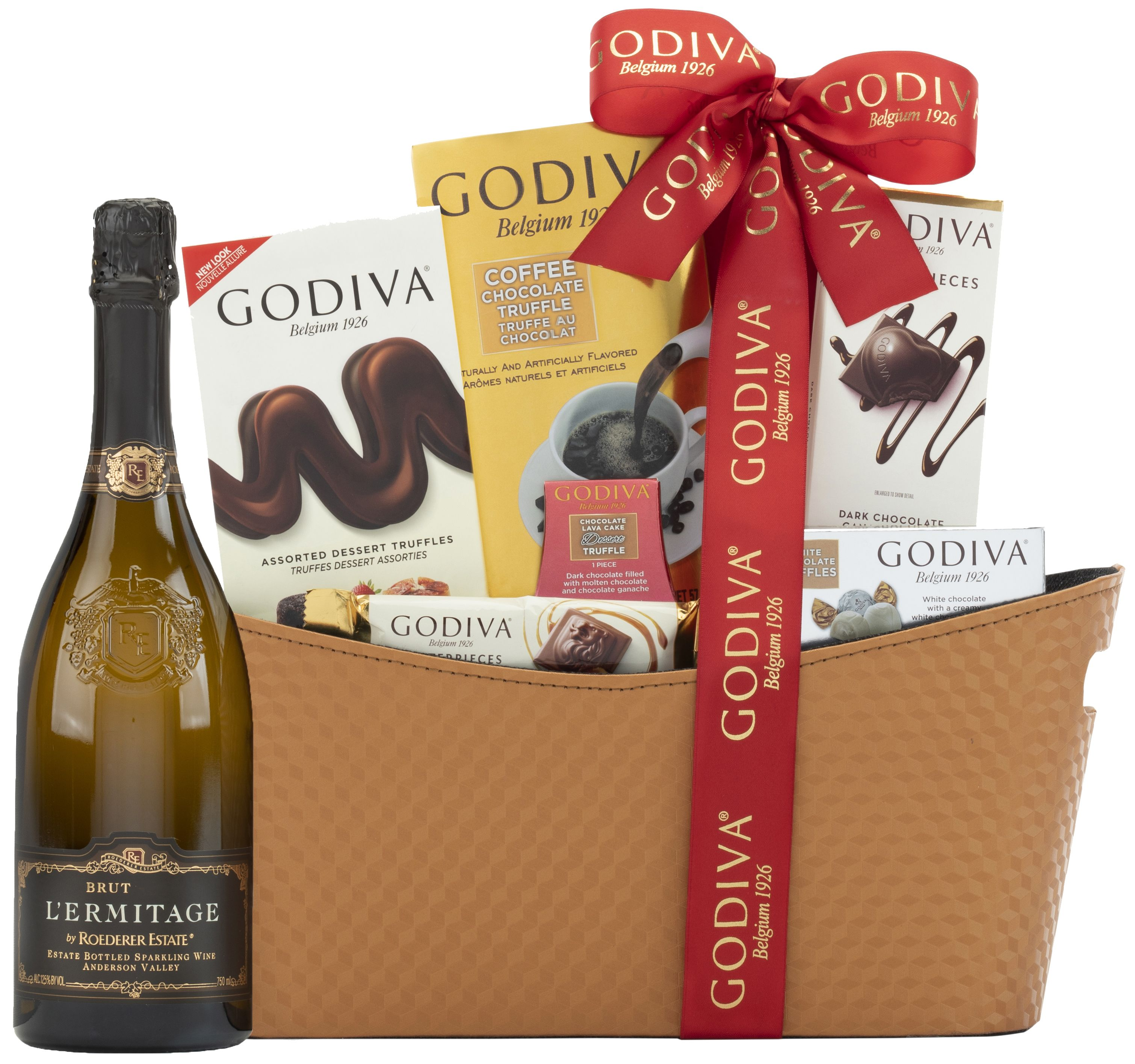 wine.com 95 Point Roederer L'Ermitage & Gourmet Chocolates Gift Basket  Gift Product Image
