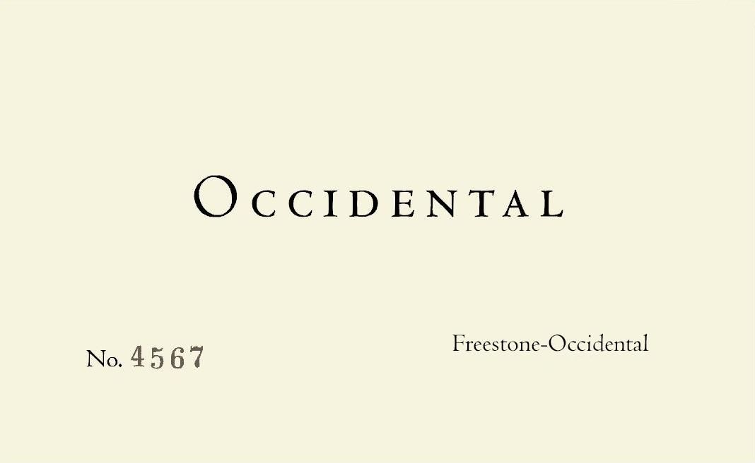 Occidental Freestone-Occidental Pinot Noir 2016 Front Label