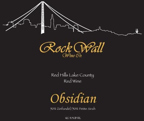 Rock Wall Obsidian 2010  Front Label
