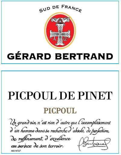 Gerard Bertrand Terroir Picpoul de Pinet 2019  Front Label