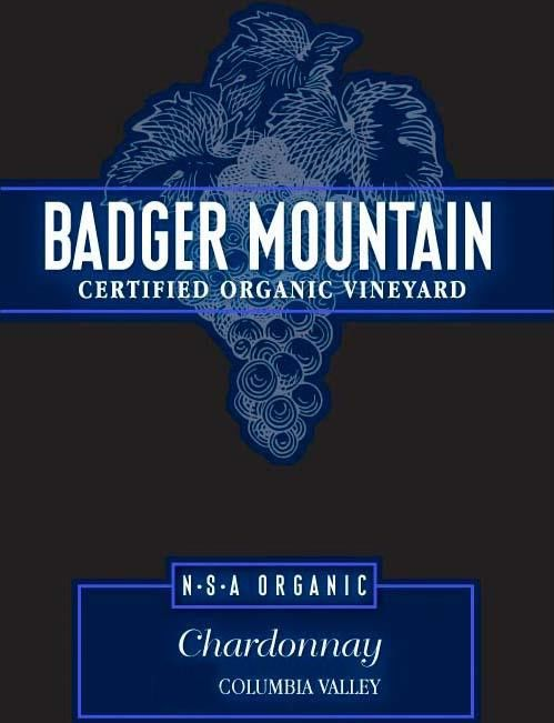 Badger Mountain N.S.A Organic Chardonnay 2016 Front Label