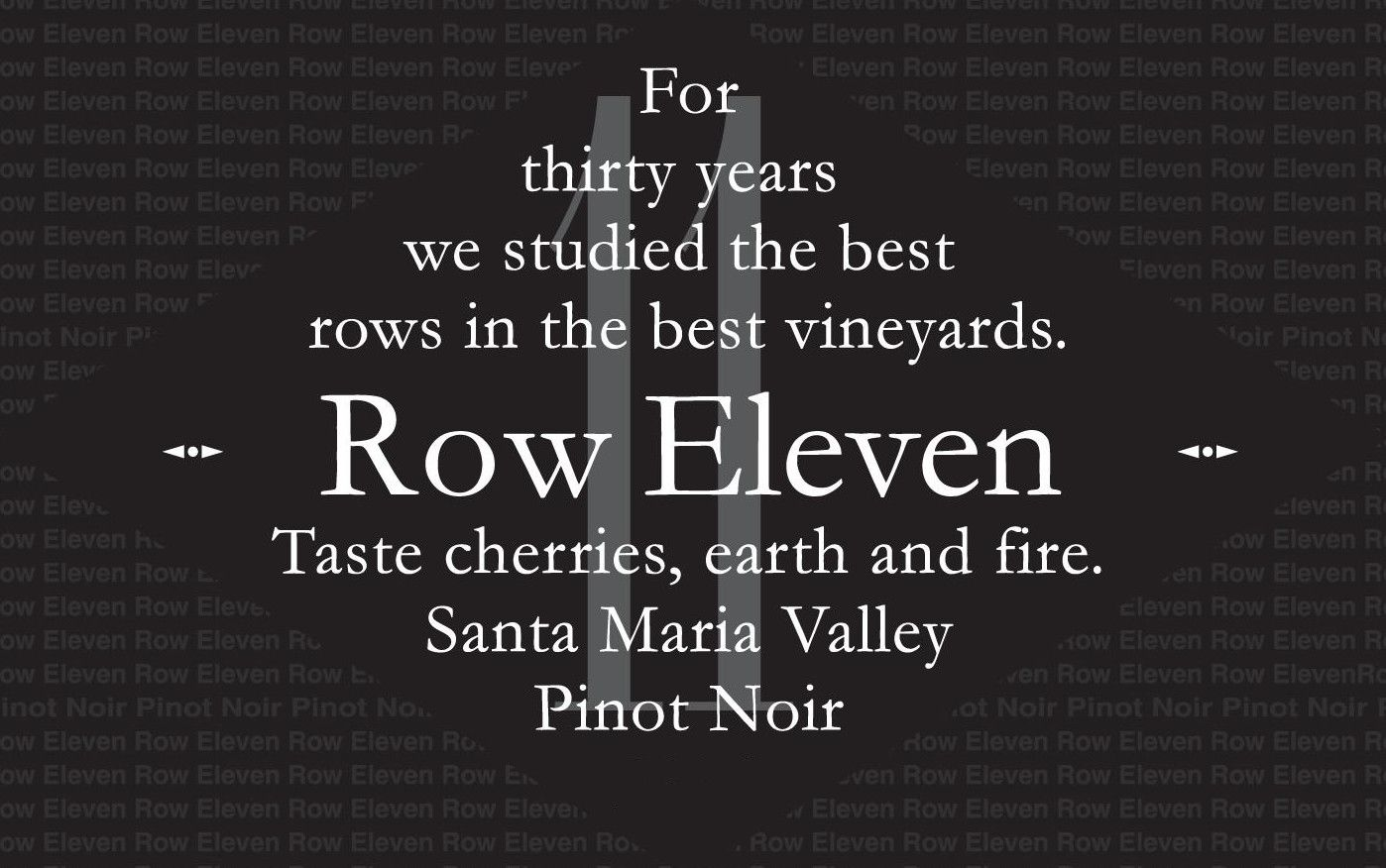 Row Eleven Pinot Noir 2006 Front Label
