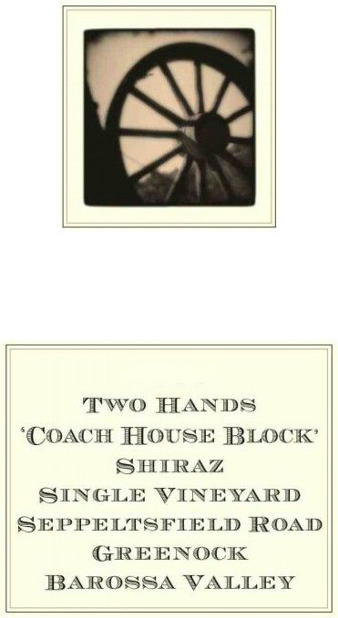 Two Hands Coach House Block Shiraz 2016  Front Label