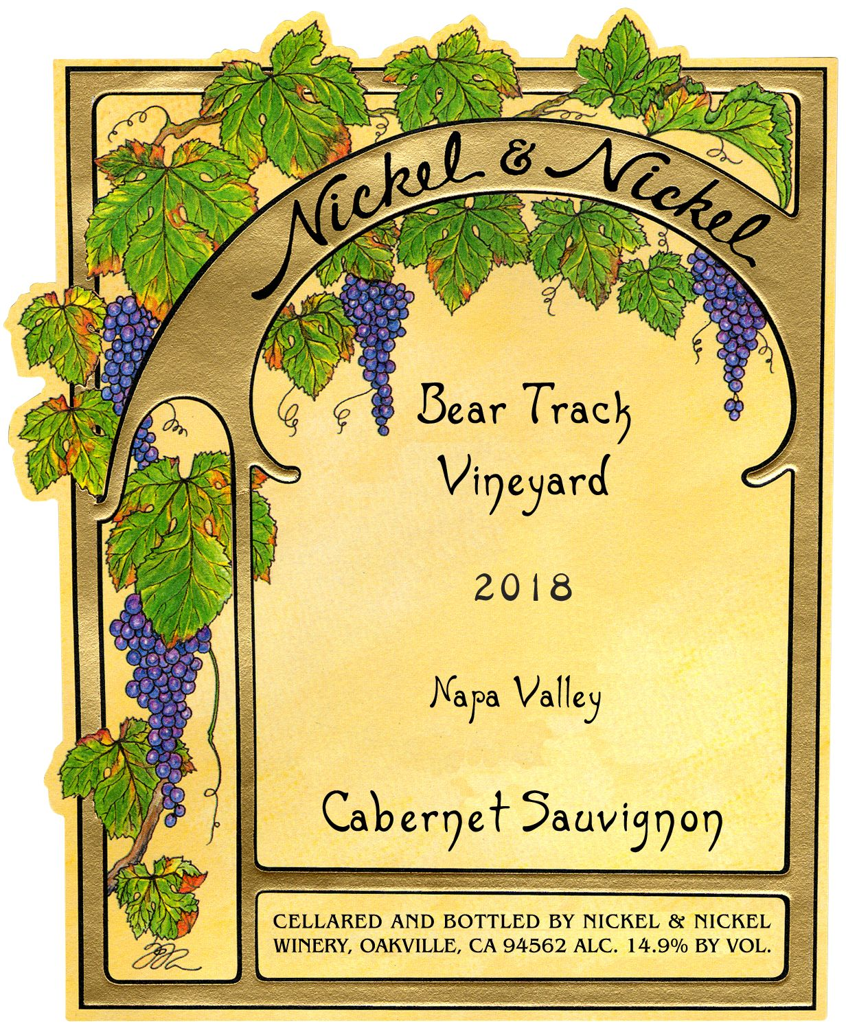Nickel & Nickel Bear Track Cabernet Sauvignon 2018  Front Label