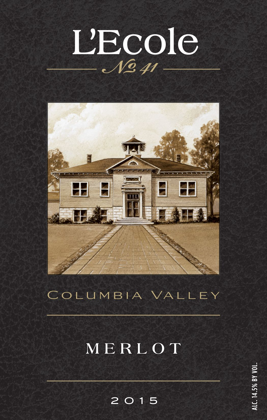 L'Ecole 41 Columbia Valley Merlot 2015  Front Label