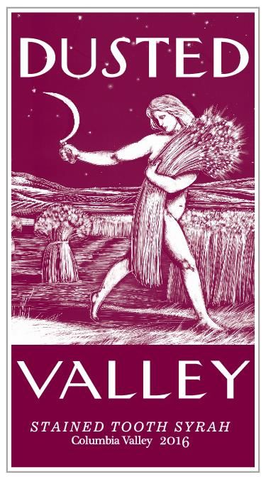Dusted Valley Stained Tooth Syrah 2016  Front Label