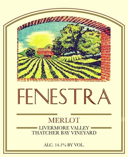 Fenestra Winery Thatcher Bay Vineyard Merlot 2011  Front Label