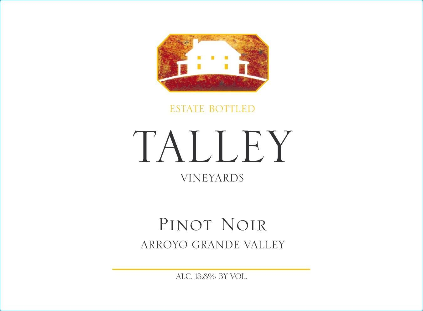 Talley Arroyo Grande Valley Estate Pinot Noir (375ML Half-bottle) 2015 Front Label