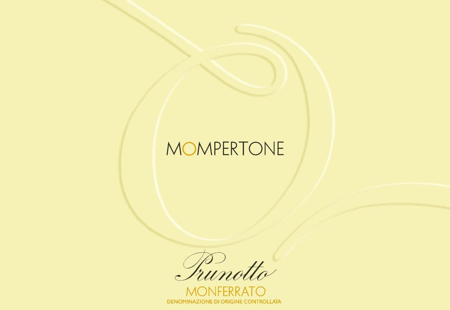 Prunotto Mompertone Monferrato 2013 Front Label