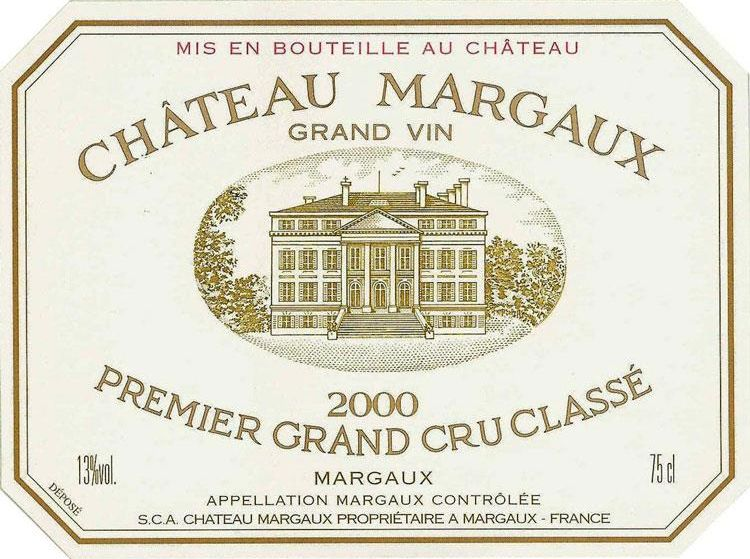 Chateau Margaux  2000 Front Label