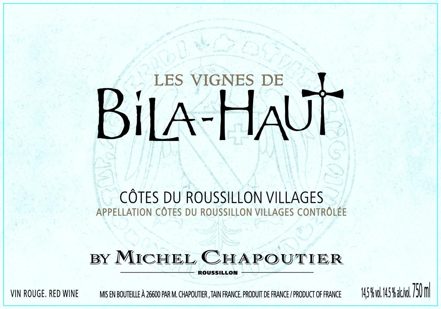 Bila-Haut by Michel Chapoutier Cotes du Roussillon Villages 2017 Front Label