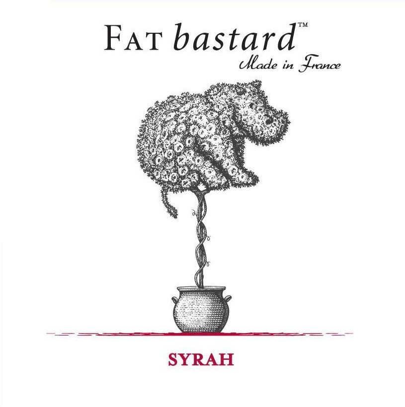 Fat Bastard Syrah 2018  Front Label