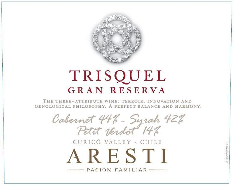 Aresti Trisquel Gran Reserva Red Blend 2016  Front Label