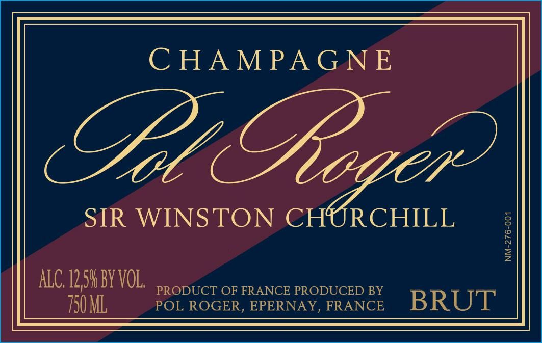 Pol Roger Sir Winston Churchill 2004  Front Label