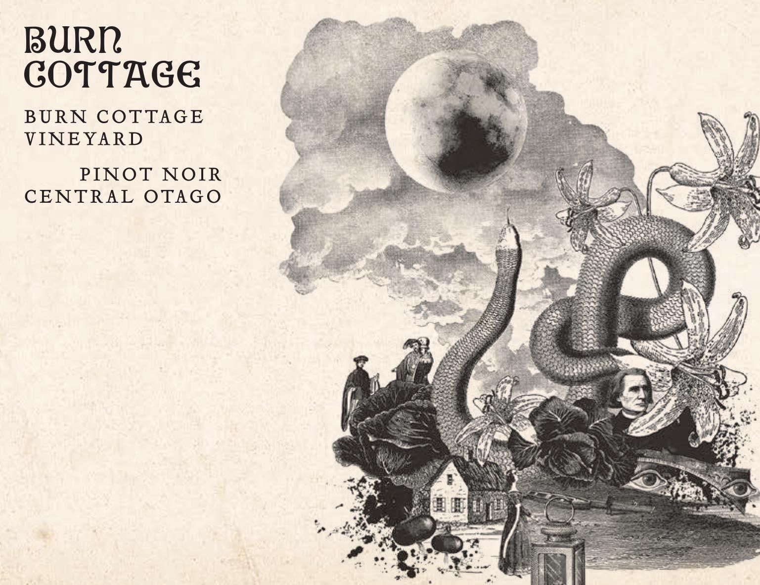 Burn Cottage Pinot Noir 2016  Front Label