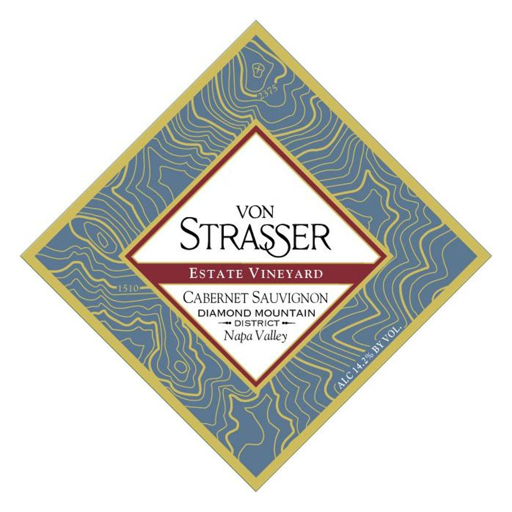Von Strasser Diamond Mountain Estate Vineyard Cabernet Sauvignon 2001  Front Label
