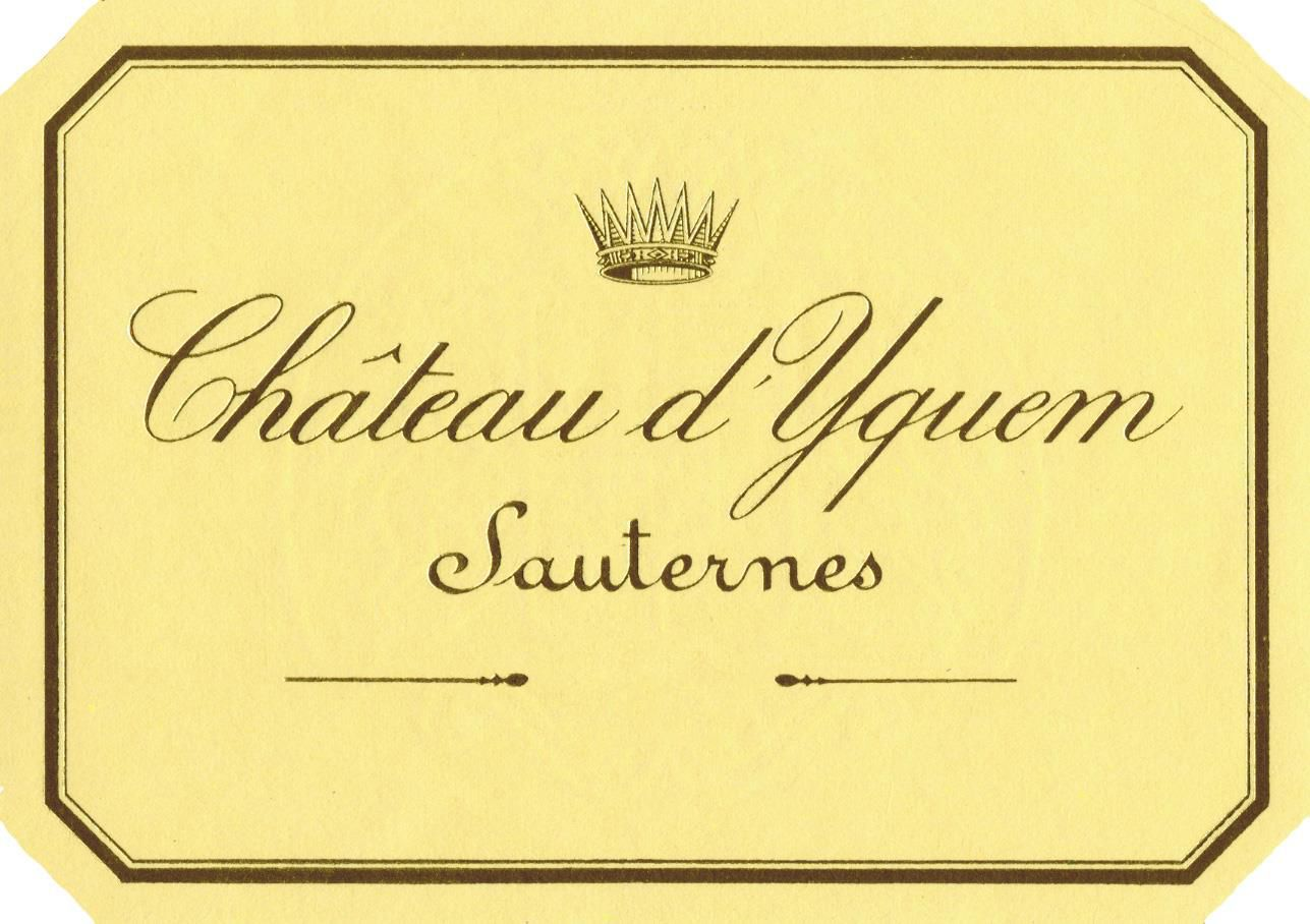 Chateau d'Yquem Sauternes (375ML half-bottle) 2016  Front Label