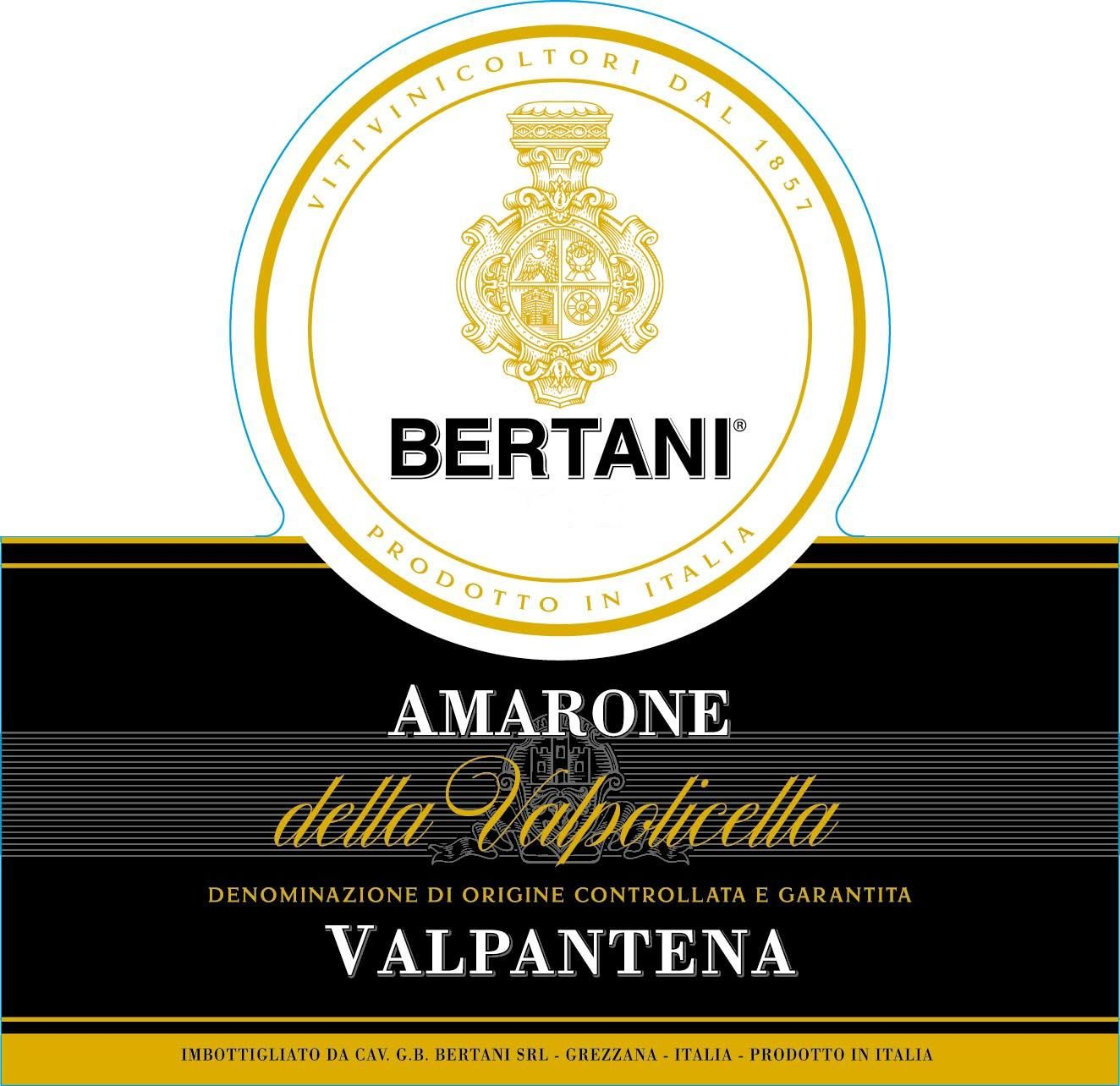 Bertani Valpantena Amarone 2016 Front Label