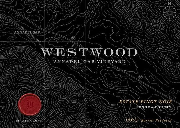 Westwood Winery Annadel Gap Vineyard Estate Pinot Noir 2016 Front Label