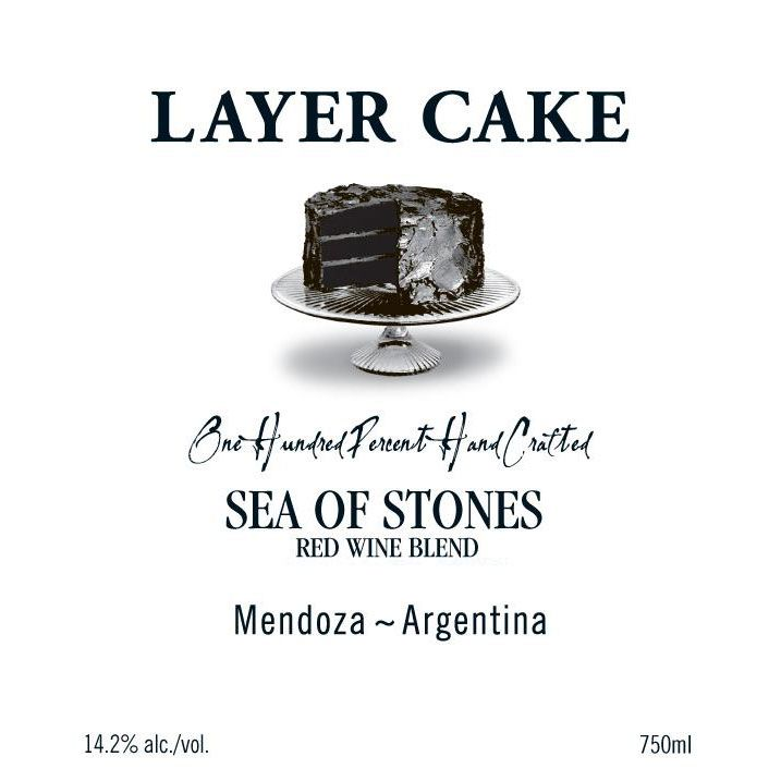 Layer Cake Sea of Stones Red Blend 2018  Front Label