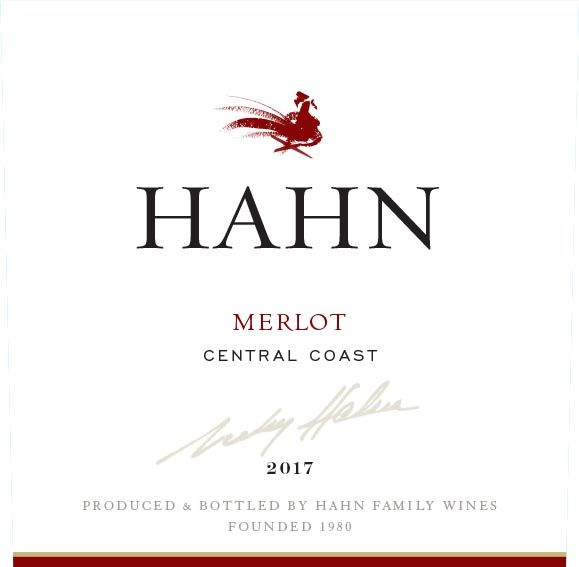 Hahn Winery Merlot 2017  Front Label