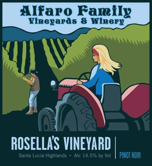 Alfaro Family Rosella's Vineyard Pinot Noir 2017  Front Label